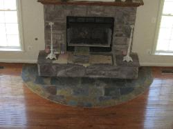 Hardwood and Stone Hearth